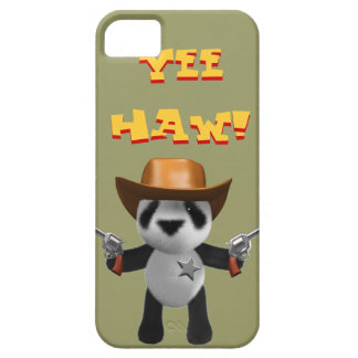 Cute 3d Baby Panda Sheriff iPhone 5 Cases