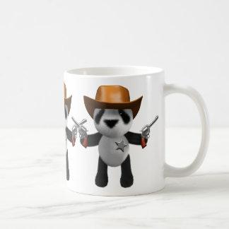 Cute 3d Baby Panda Sheriff Coffee Mug