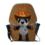Cute 3d Baby Panda Sheriff Courier Bags