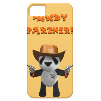 Cute 3d Baby Panda Sheriff - Howdy Partner! iPhone 5 Cover