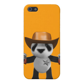 Cute 3d Baby Panda Sheriff Case For iPhone 5
