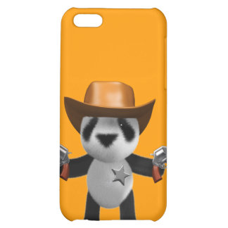 Cute 3d Baby Panda Sheriff iPhone 5C Cases