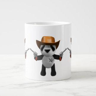 Cute 3d Baby Panda Sheriff Large Coffee Mug