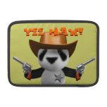 Cute 3d Baby Panda Sheriff MacBook Sleeve