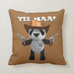 Cute 3d Baby Panda Sheriff Throw Pillows