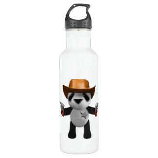 Cute 3d Baby Panda Sheriff Water Bottle