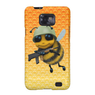 Cute 3d Bee Soldier background Galaxy S2 Covers