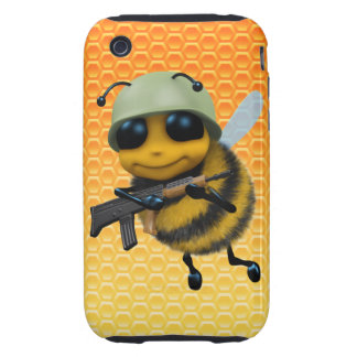 Cute 3d Bee Soldier Honeycomb iPhone 3 Tough Case