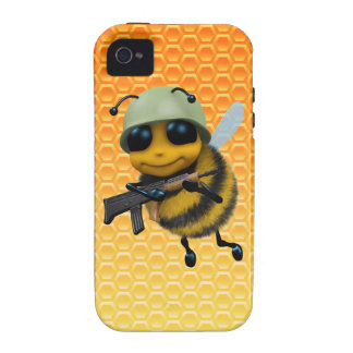 Cute 3d Bee Soldier Honeycomb iPhone 4 Case
