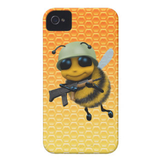 Cute 3d Bee Soldier Honeycomb iPhone 4 Cover