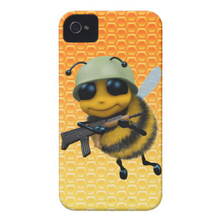 Cute 3d Bee Soldier Honeycomb iPhone 4 Cases