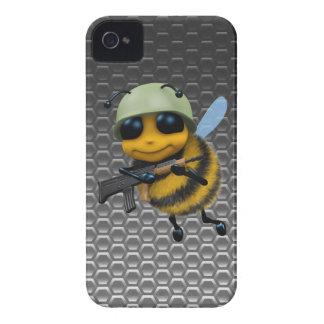 Cute 3d Bee Soldier Metallic Honeycomb iPhone 4 Cases