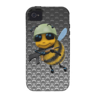 Cute 3d Bee Soldier Metallic Honeycomb Case For The iPhone 4