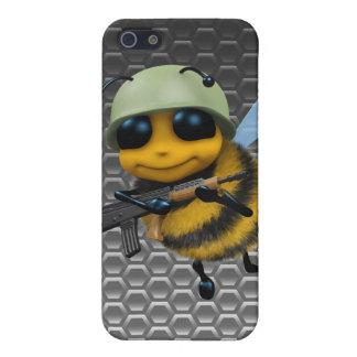 Cute 3d Bee Soldier Metallic Honeycomb iPhone 5 Case