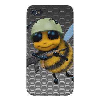 Cute 3d Bee Soldier Metallic Honeycomb iPhone 4 Covers