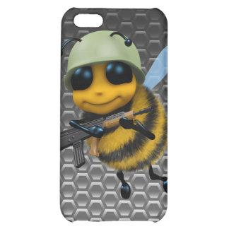 Cute 3d Bee Soldier Metallic Honeycomb iPhone 5C Cover