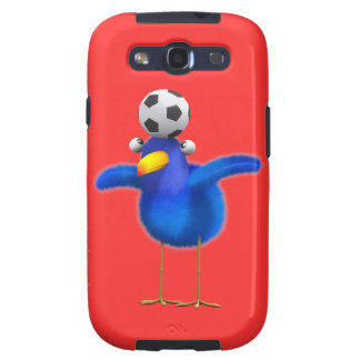 Cute 3d Bird plays Football (editable) Samsung Galaxy SIII Case