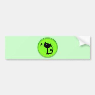 Cute 3D Black Cartoon Cat Bumper Stickers