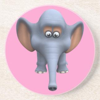 Cute 3d Elephant Beverage Coasters