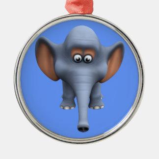 Cute 3d Elephant Christmas Ornament