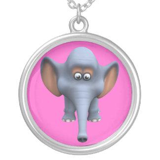 Cute 3d Elephant Custom Necklace
