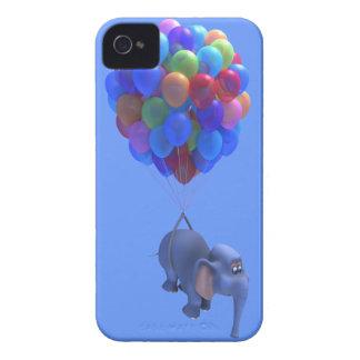 Cute 3d Elephant flying Balloons (editable) iPhone 4 Case-Mate Case