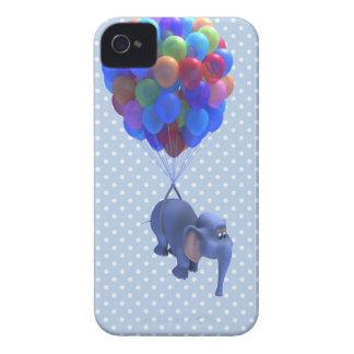 Cute 3d Elephant flying Balloons (editable) Blackberry Cases