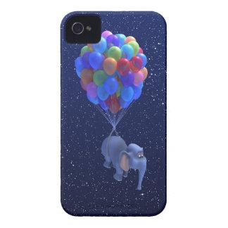 Cute 3d Elephant flying Balloons (editable) Blackberry Bold Cover