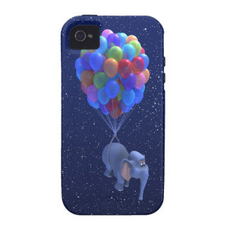 Cute 3d Elephant flying Balloons (editable) iPhone 4/4S Covers