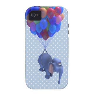 Cute 3d Elephant flying Balloons (editable) Vibe iPhone 4 Covers