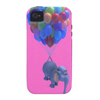 Cute 3d Elephant flying Balloons (editable) iPhone 4/4S Cases