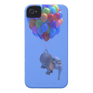 Cute 3d Elephant flying Balloons (editable) Blackberry Case