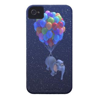Cute 3d Elephant flying Balloons (editable) iPhone 4 Case