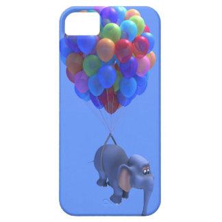 Cute 3d Elephant flying Balloons (editable) iPhone SE/5/5s Case