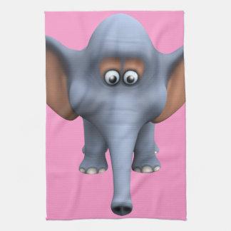 Cute 3d Elephant Hand Towels