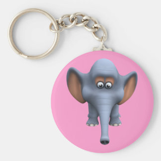 Cute 3d Elephant Key Chain