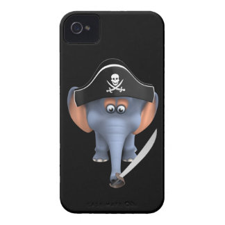 Cute 3d Elephant Pirate (editable) iPhone 4 Cover
