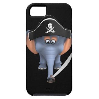 Cute 3d Elephant Pirate (editable) iPhone SE/5/5s Case