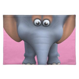 Cute 3d Elephant Place Mat