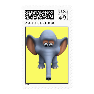 Cute 3d Elephant Postage