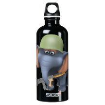 Cute 3d Elephant soldier (editable) SIGG Traveler 0.6L Water Bottle