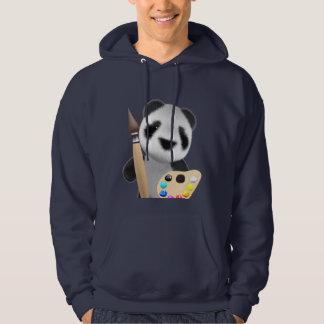 Cute 3d Panda Artist (editable) Hoodie