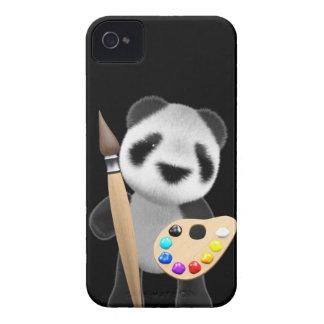 Cute 3d Panda Artist (editable) iPhone 4 Covers