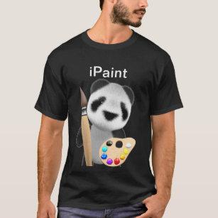 Cute 3d Panda Artist - iPaint T-Shirt 59d66a1cc