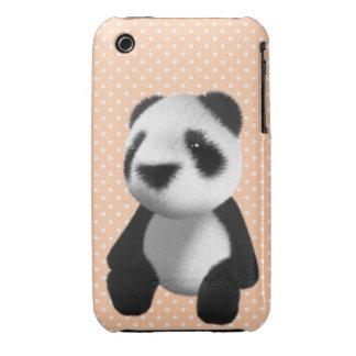 Cute 3d Panda Bear Sitting (editable) iPhone 3 Case-Mate Cases