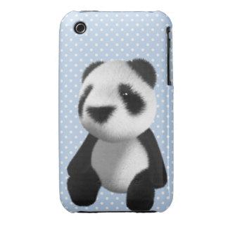 Cute 3d Panda Bear Sitting (editable) Case-Mate iPhone 3 Cases
