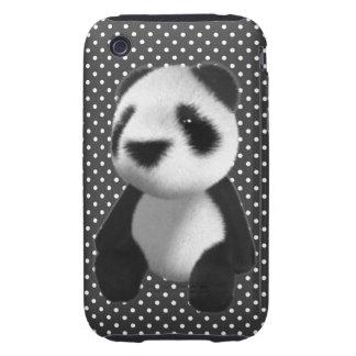 Cute 3d Panda Bear Sitting (editable) iPhone 3 Tough Cover