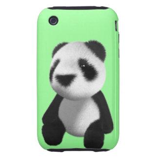 Cute 3d Panda Bear Sitting (editable) Tough iPhone 3 Cases