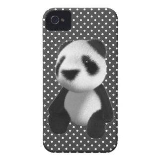Cute 3d Panda Bear Sitting (editable) iPhone 4 Case-Mate Case