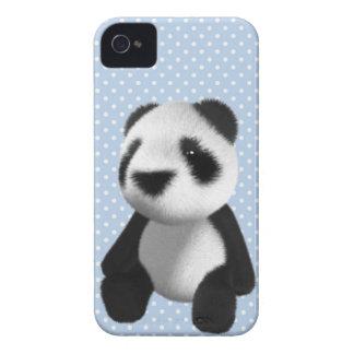 Cute 3d Panda Bear Sitting (editable) iPhone 4 Covers